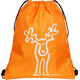 Elkline Büdel Gym Bag orange-white